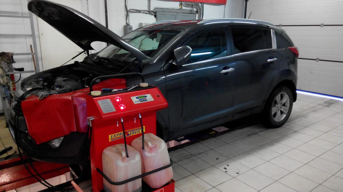 Замена масла в АКПП Kia Sportage 3