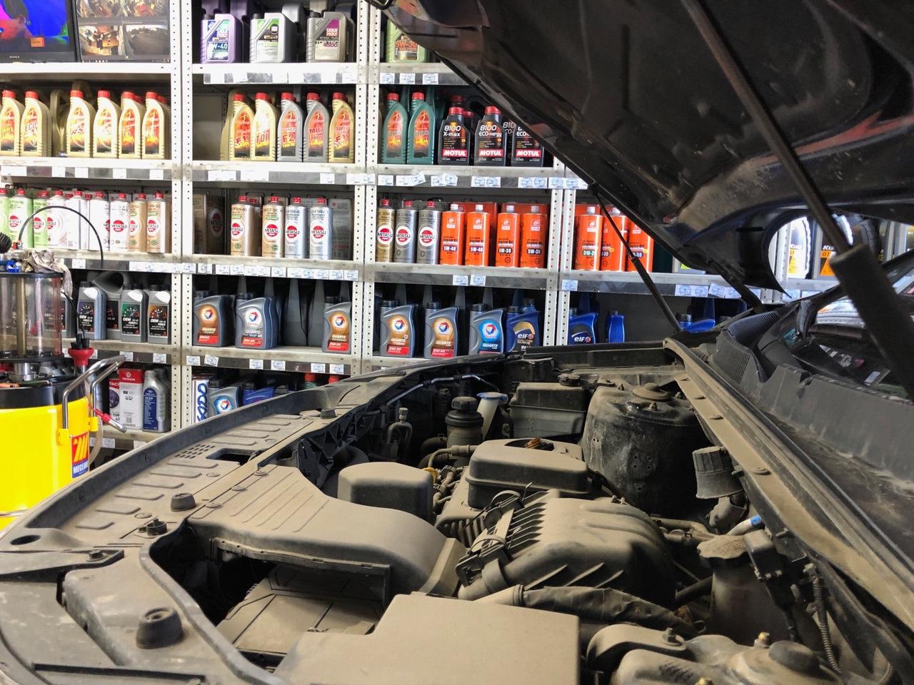 Замена масла на бензиновом двигателе Киа Соренто