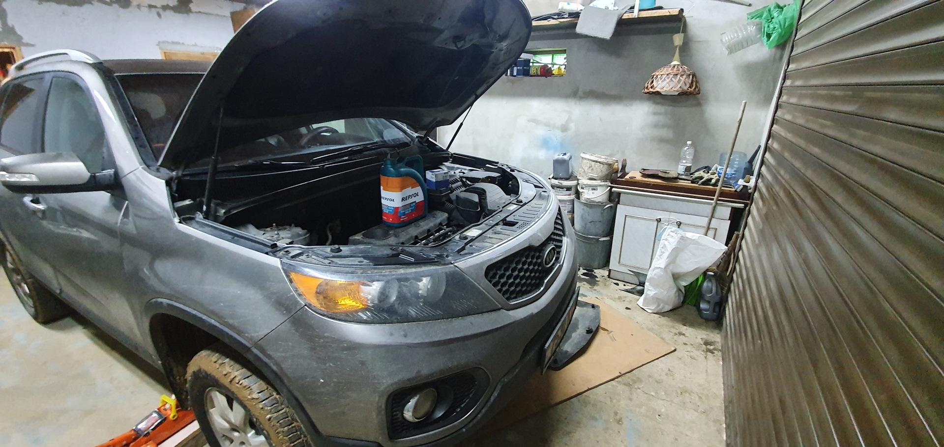 Замена масла на дизельном двигателе Киа Соренто