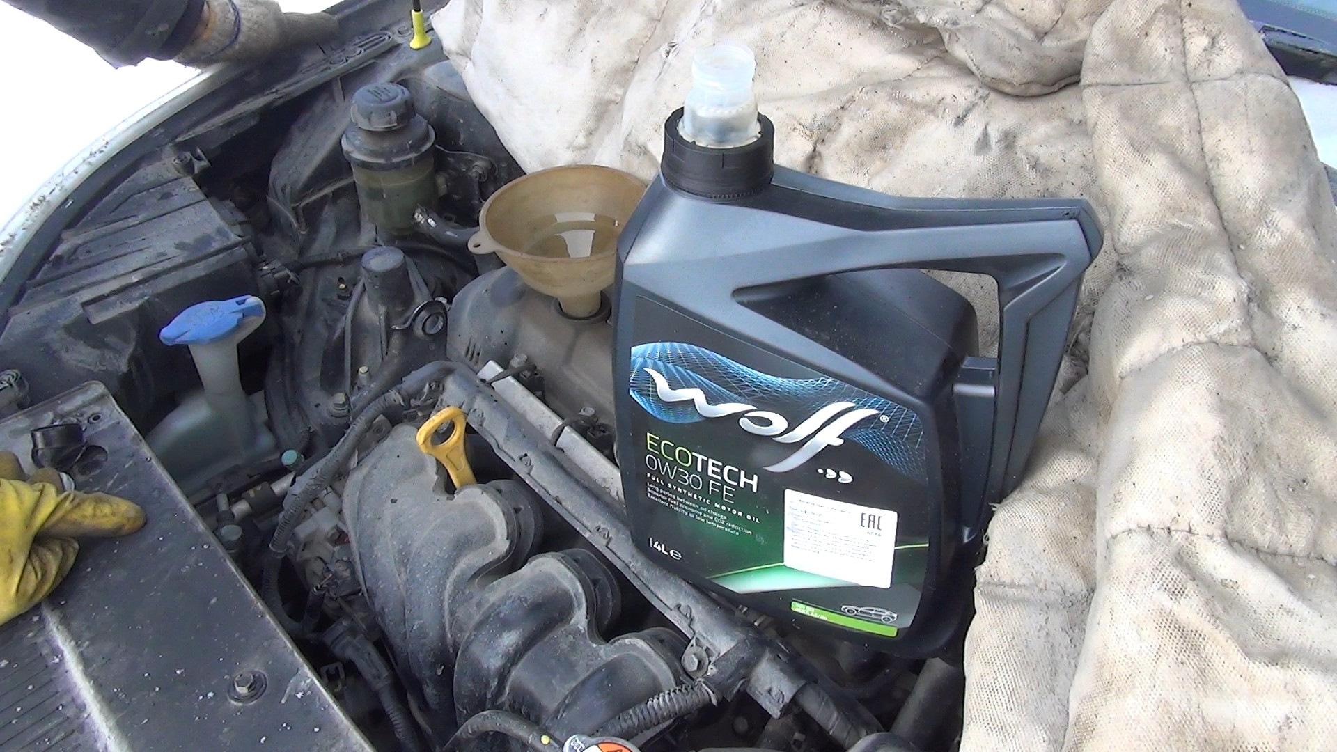 Замена масла в двигателе на Киа Сид