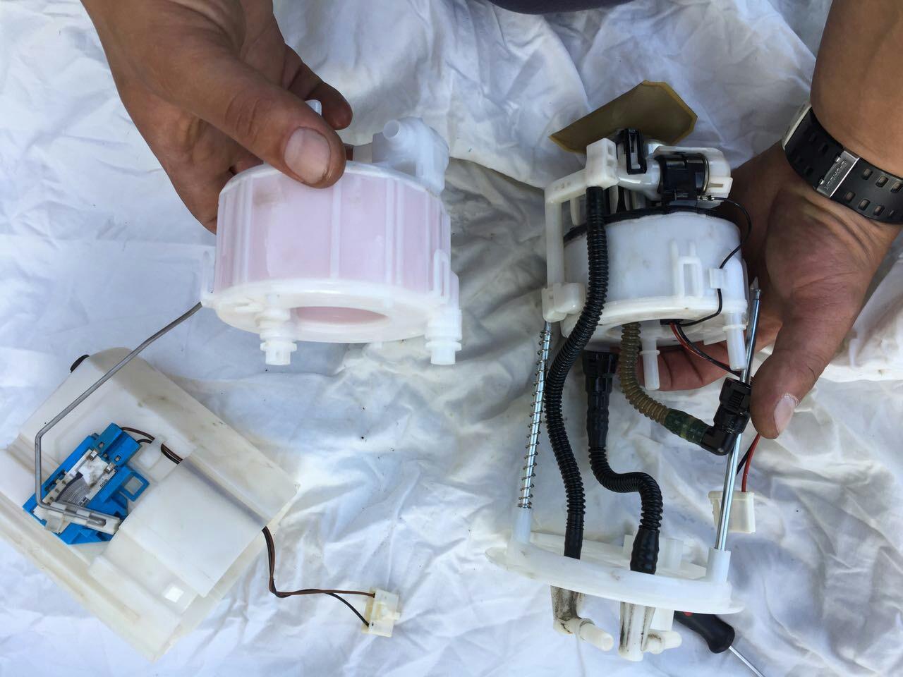 Замена топливного фильтра Киа Соренто