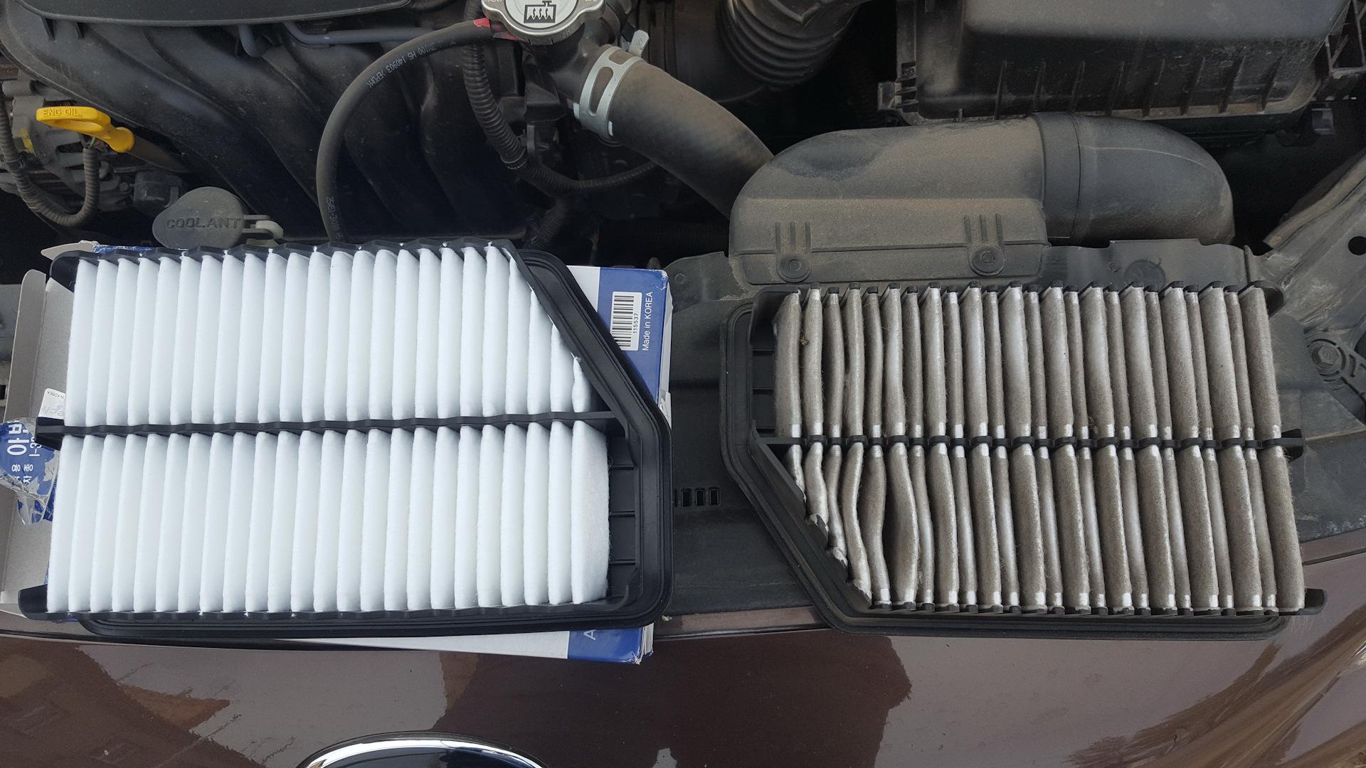 Как поменять воздушный фильтр на Киа Сид